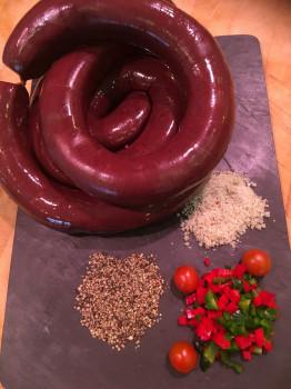 Boudin noir sucré (raisins)
