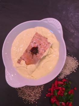 Saumon sauce hollandaise